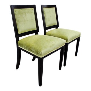 Pair of 1940s Dunbar Dining Chairs, Refinished For Sale