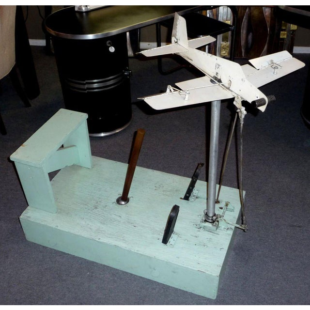 1930's Mechanical Flight Simulator For Sale - Image 9 of 9
