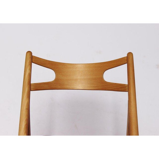 1970s 1970s Scandinavian Modern Hans J. Wegner Sawbuck Chair For Sale - Image 5 of 10