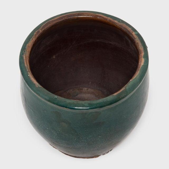 Asian Green Glazed Pickling Pot For Sale - Image 3 of 4