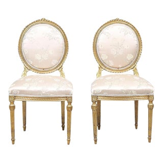 Antique Louis XVI Style Chairs - Set of 2 For Sale