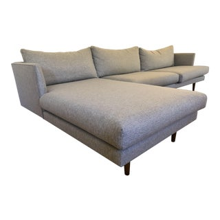 Burrard by Article Mid-Century Gray Left Chaise Sectional