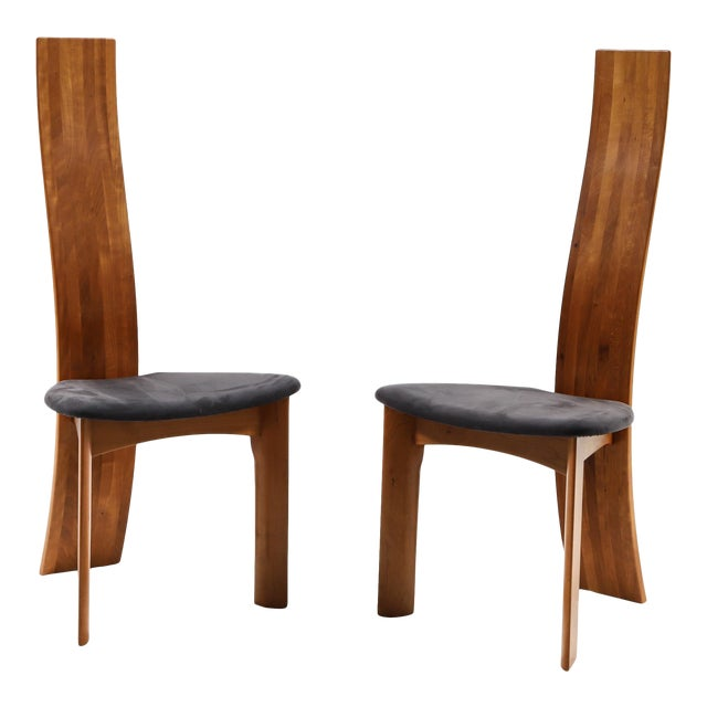 Set of Eight Danish Cherry-Wood Dining Chairs by Bob Og Dries Van Den Bergh For Sale