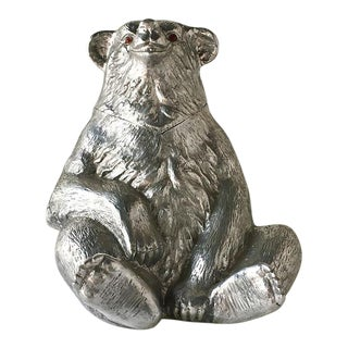 Arthur Court Cast Aluminum Bear Wine Cooler 1988 For Sale