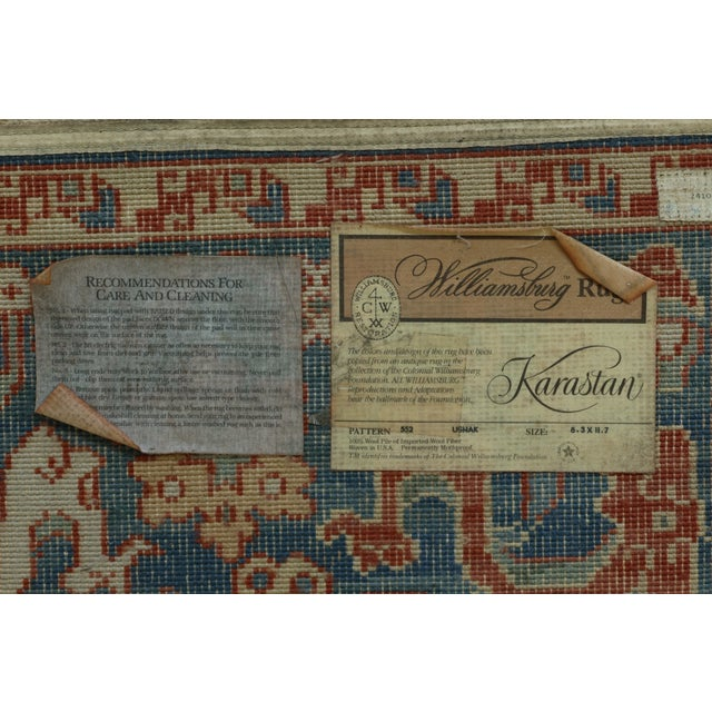 Karastan Approx 8 X 12 Ushak Colonial Williamsburg Rug For Sale - Image 11 of 13