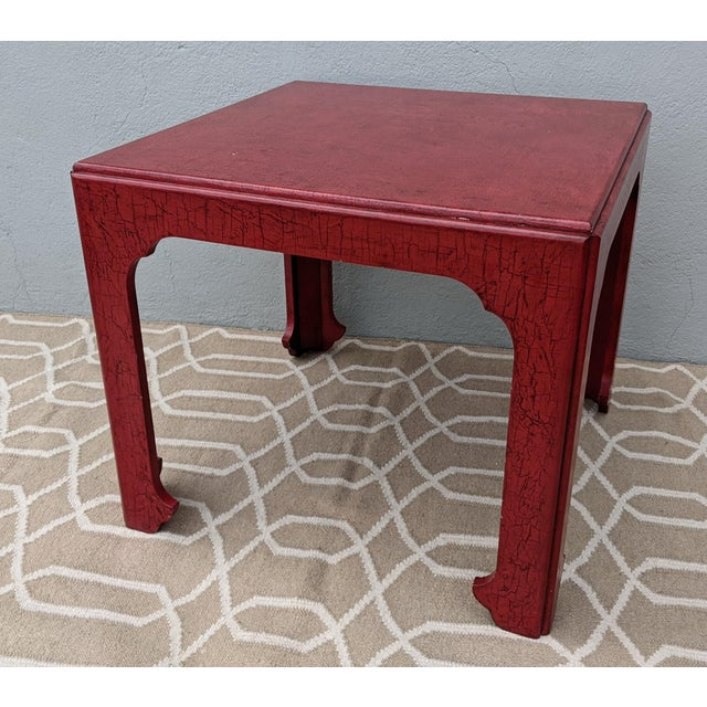 Vintage Baker Asian Influence Side Table For Sale - Image 12 of 12