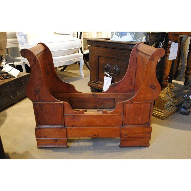 Brown 19th Century Dolls or Dog Sleigh Bed For Sale - Image 8 of 8