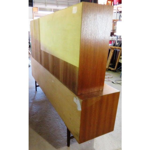 Mid 20th Century Vintage Italian Teak Sideboard For Sale - Image 10 of 11