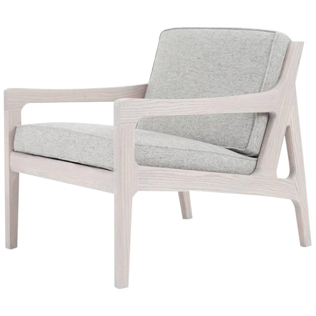 Asa Pingree Pilar Lounge Chair in Fog Gray Ash For Sale