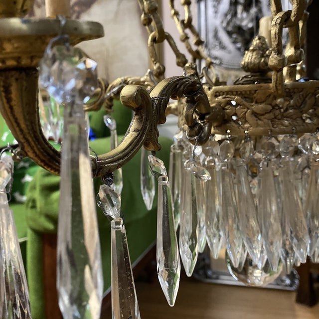 Crystal and Brass Hot Air Balloon Chandelier** For Sale - Image 10 of 11