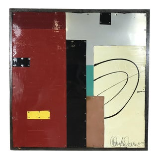 "Thomas Anderson Metal Geometric ""Elements Series #8"" Abstract Painting For Sale"
