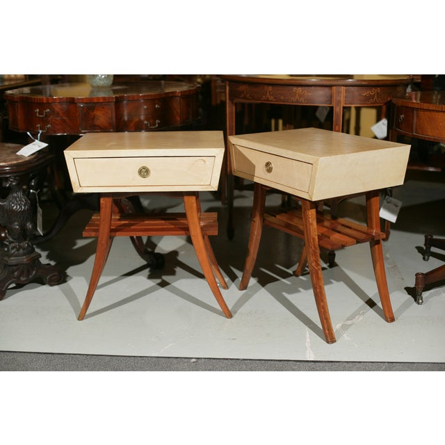 Art Deco Parchment Stands - A Pair For Sale - Image 10 of 10