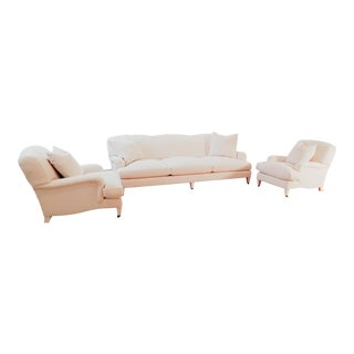 Ralph Lauren Sofa and Lounge Chairs - 3 Pieces For Sale