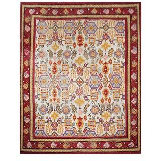 Vintage Indian Agra Rug - 9′6″ × 11′6″ For Sale