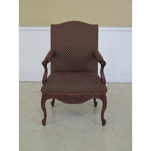 Sherrill French Louis XV Style Upholstered Arm Chair For Sale - Image 13 of 13