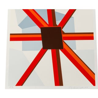 Allan D'arcangelo Print, Squared Star For Sale