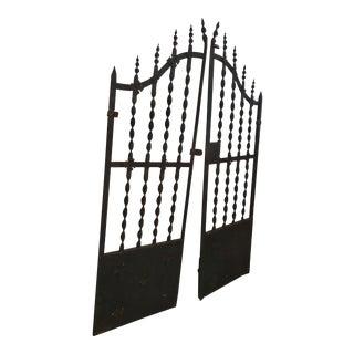 Wrought Iron Fleur De Lis French Garden Gates - a Pair