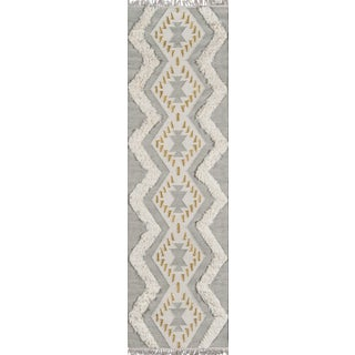 Novogratz by Momeni Indio Beverly in Grey Rug - 2'X8' Runner For Sale