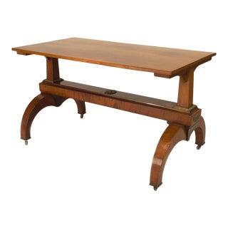 Austrian Biedermeier Walnut Davenport Table For Sale