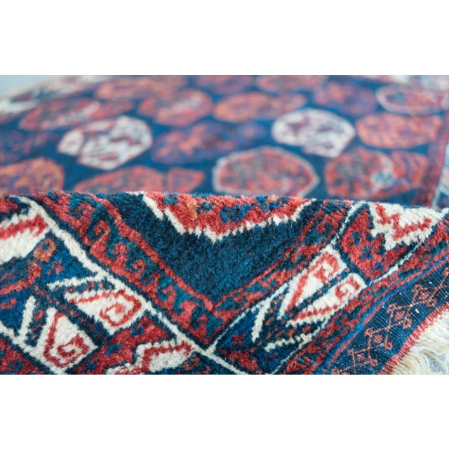 """Antique Perisan Mat Small Rug - 2'x3'2"""" - Image 4 of 5"""