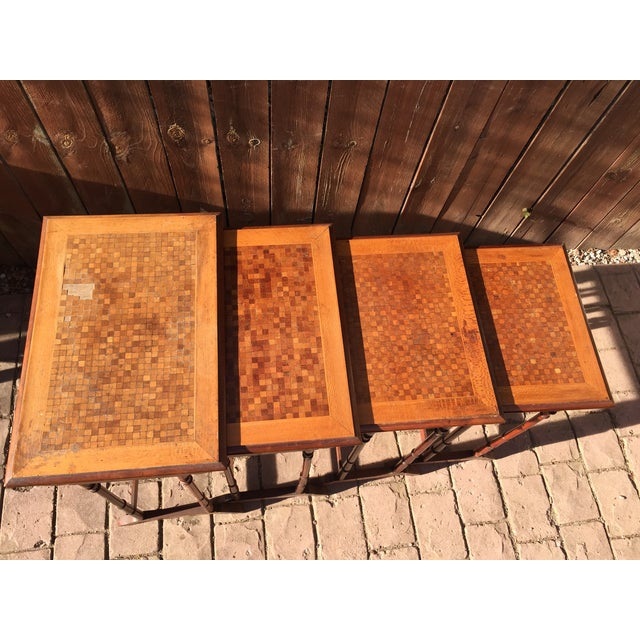 English Traditional 1820s English Walnut Nesting Tables, Signed - 4 For Sale - Image 3 of 11