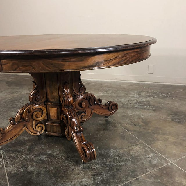 Brown 19th Century French Renaissance Walnut Pedestal Table For Sale - Image 8 of 13