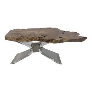 Custom Big Leaf Maple Burl Coffee Table For Sale