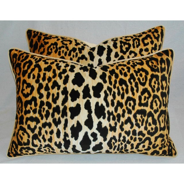 "Hollywood Glam Leopard Spot Safari Velvet Pillows 26"" X 18"" - Pair For Sale In Los Angeles - Image 6 of 14"