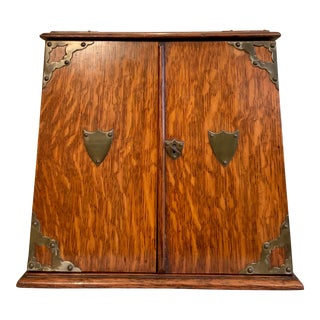 19th Century Antique Edwardian Tobacco Smoking Cabinet For Sale