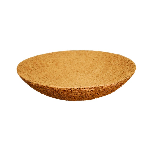 Tan Woven Grass Bowl - Image 1 of 4
