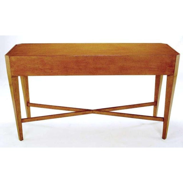 Nancy Corzine Glazed Maple X-Based Art Moderne Console Sideboard For Sale In Chicago - Image 6 of 11