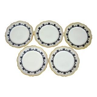 Art Nouveau Dessert Plates, Set of 5 For Sale