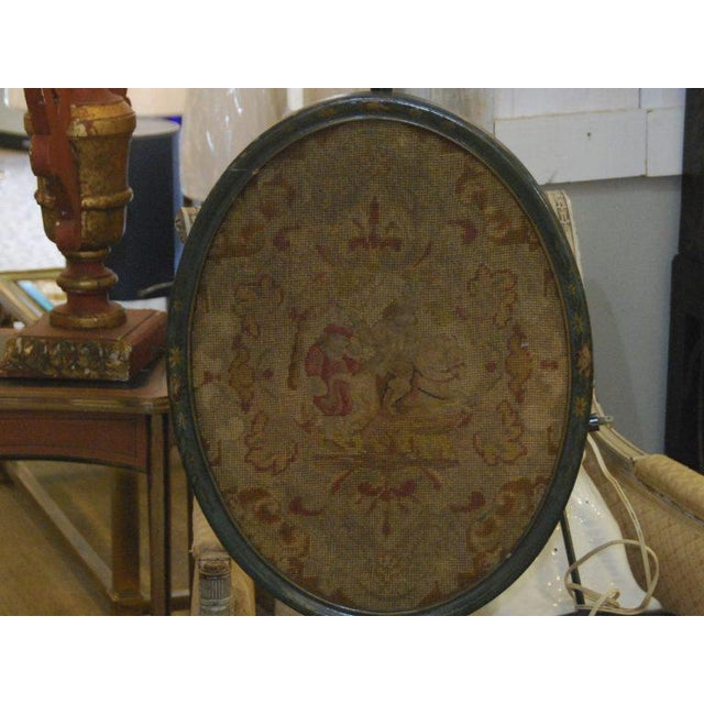 19th C. English Pole Screen For Sale - Image 4 of 6