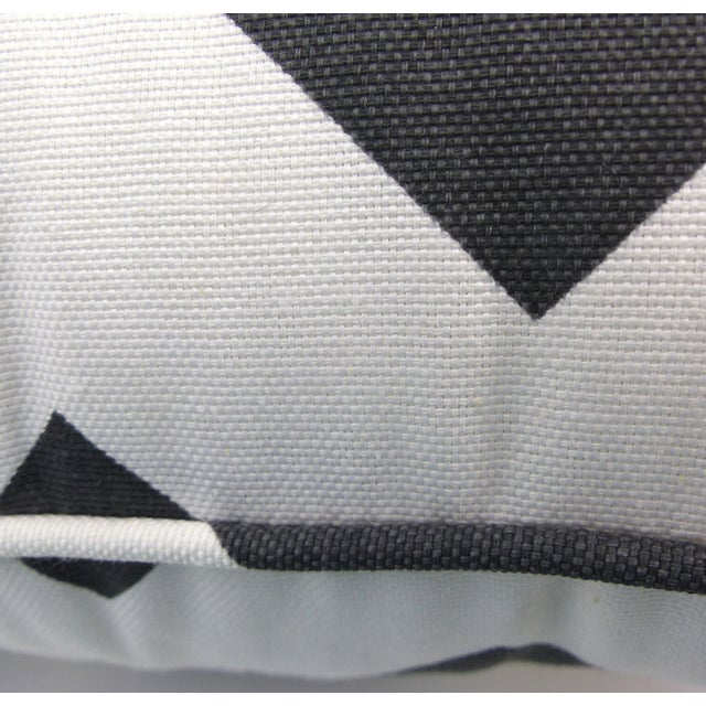 Dark Gray/Off-White Chevron Pattern Custom Pillow - Image 5 of 6