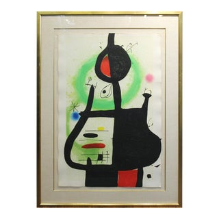 Joan Miro 'La Sorciere' Modern Signed Print For Sale