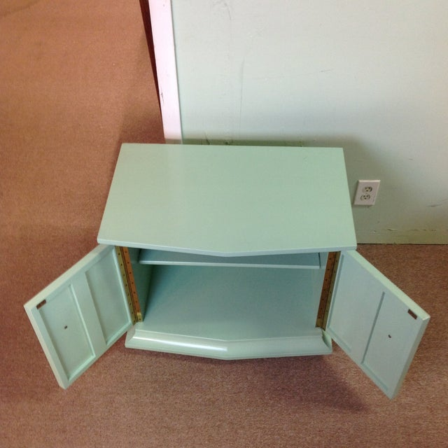 Vintage Painted Wood Side Tables - a Pair - Image 4 of 8