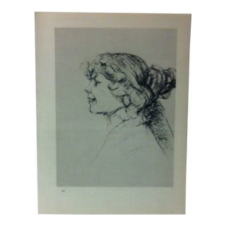 """Circa 1980 """"Miss Dolly From the Star Bar in Le Havre 1899"""" Print of a Toulouse-Lautrec Drawing For Sale"""