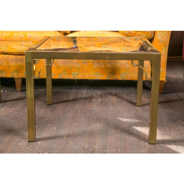 1970s 1960s Vintage Mastercraft Brass End Table For Sale - Image 5 of 19