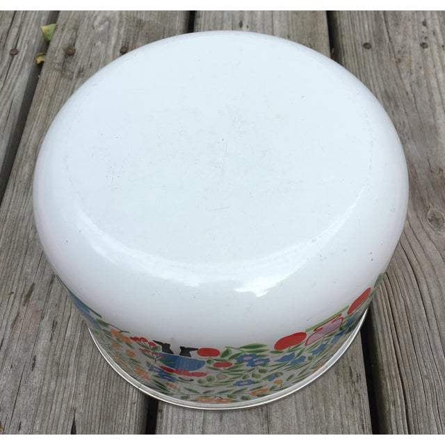 Colorfully Decorated Enamelware Bowl - Image 5 of 7