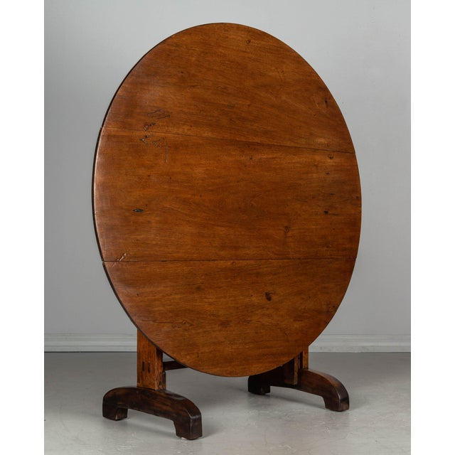 19th C. French Wine Tasting Table or Tilt-Top Table For Sale - Image 4 of 12