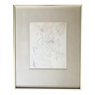 "Salvador Dalí ""Autumn"" Etching, Framed"