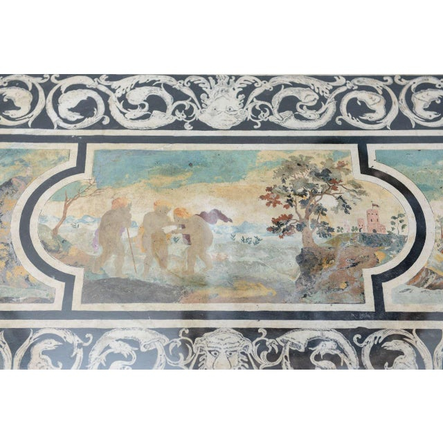 Fine Italian Scagliola 18th Century Table Top Mounted in a Low Table For Sale - Image 9 of 11