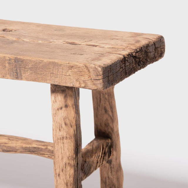Reclaimed Chinese Elm Courtyard Console Table For Sale In Chicago - Image 6 of 7