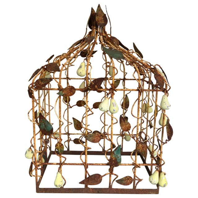 Metal Early 20th Century Tole Birdcage For Sale - Image 7 of 7