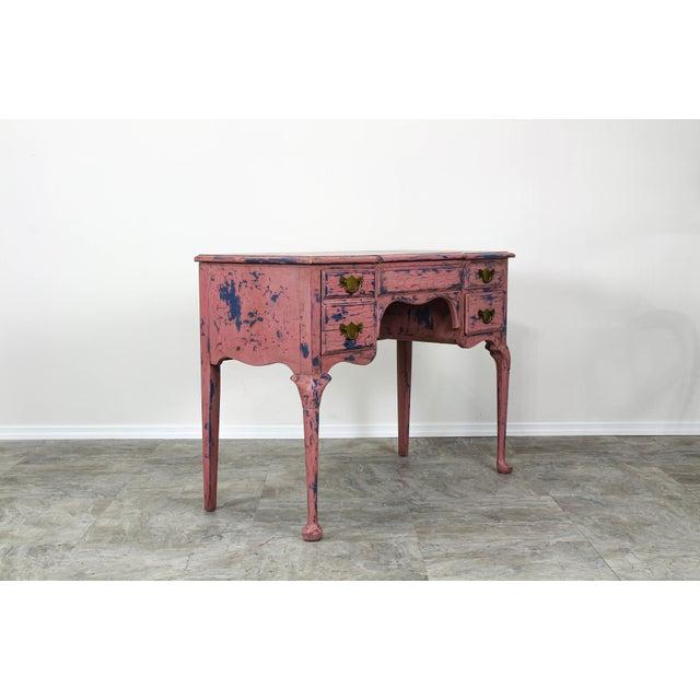 French Provincial Vanity, Provincial Dressing Table, Shabby Chic Vanity Desk, Pink Vanity, Mid Century Vanity Desk, Vintage Vanity For Sale - Image 11 of 12