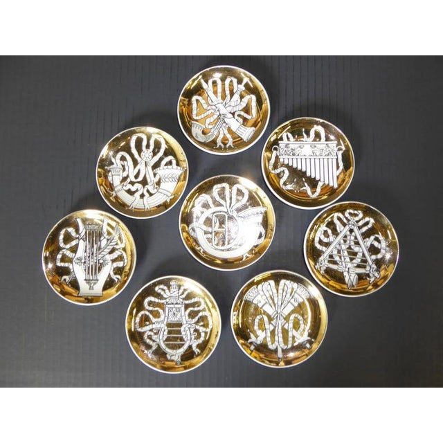 Set of Eight 1950s Piero Fornasetti Musicalia Canapés For Sale In Miami - Image 6 of 8