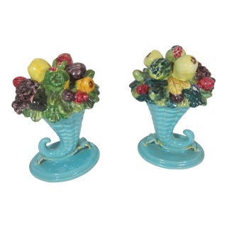 Shabby Chic Fruit Cornucopia - a Pair For Sale