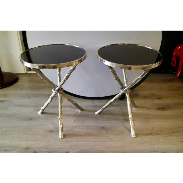 Pair of Faux Bois Table For Sale - Image 4 of 4