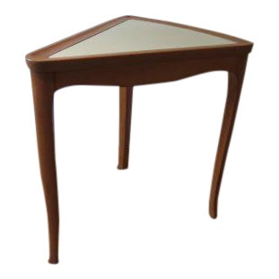Edward Wormley for Drexel Maple & White Lacquer Top Wedge Table