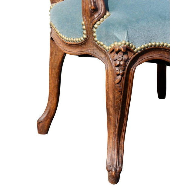 Louis XV Style Walnut Fauteuil - a Pair For Sale In Boston - Image 6 of 11
